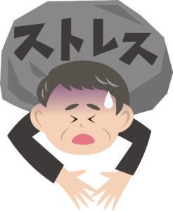 男性の背中に責任と言うストレスが伸し掛かっている