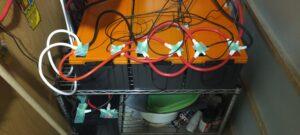 リン酸鉄リチウムバッテリー200Ah×4台