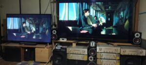 映像音声の効き比べTV二台