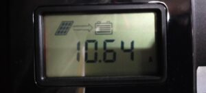 今日の発電量10.64A~13A