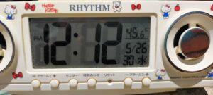 外に置いた温度計45℃