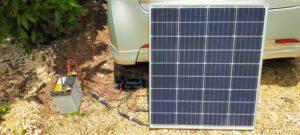ソーラーパネルとチャージコントローラー接続 太陽光発電開始